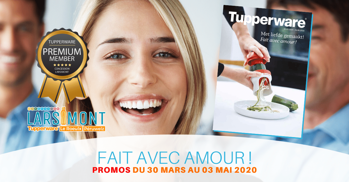 Cover Promotion Tupperware Belgique Avril 2020