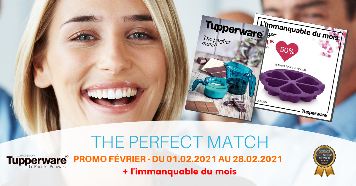 The perfect match - Cover Tupperware Février 2021